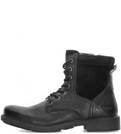 Кожаные ботинки с застежкой на молнию и шнуровкой Gas