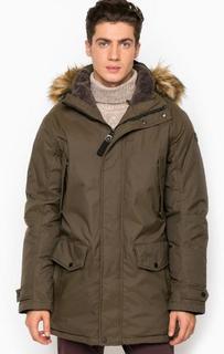 Куртка цвета хаки со съемным капюшоном Luhta