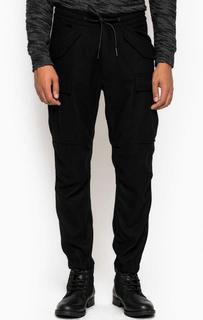 Черные шерстяные брюки карго Drykorn