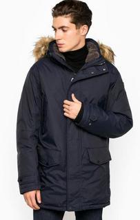 Однотонная куртка на молнии и кнопках Luhta