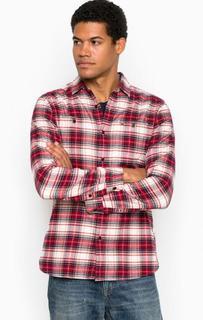 Рубашка из хлопка в клетку с карманами Hilfiger Denim