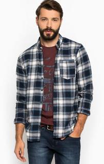 Рубашка из хлопка в клетку с карманом Blend