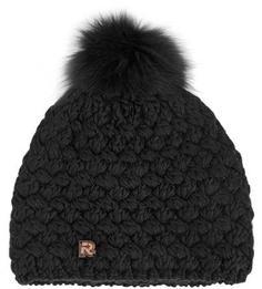 Черная шапка с помпоном R.Mountain