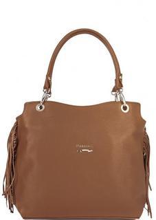 Кожаная сумка с бахромой Marina C.