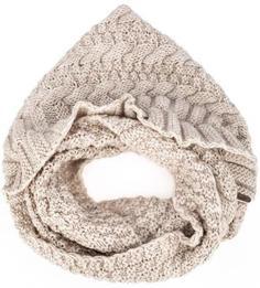 Бежевый вязаный шарф-хомут Noryalli