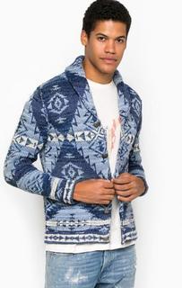 Синий хлопковый кардиган на пуговицах D&S Ralph Lauren