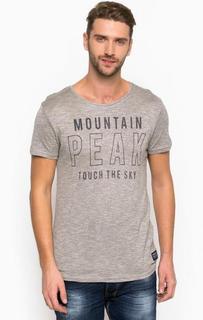Серая трикотажная футболка Tom Tailor Denim