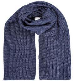 Синий шарф из акрила и шерсти Liu Jo Uomo