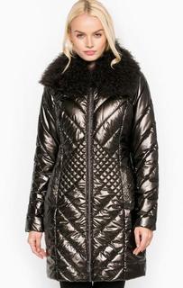 Длинная зимняя куртка с наполнителем из полиэстера Trussardi Jeans