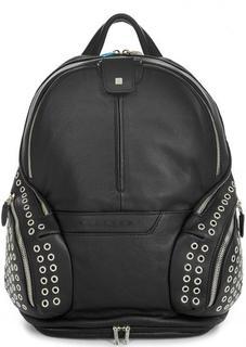 Кожаный рюкзак с металлическим декором Piquadro