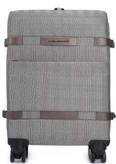 Текстильный чемодан на колесах с двумя отделами Piquadro