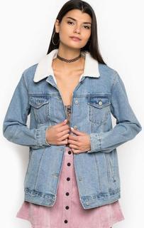 Утепленная джинсова куртка с вышивкой Glamorous