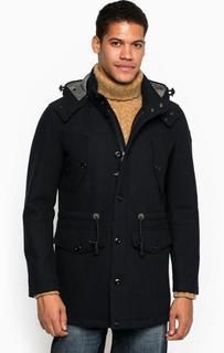 Синее шерстяное пальто с карманами Marc Opolo