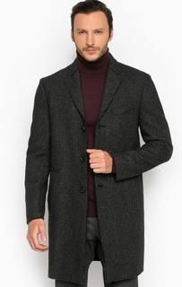 Серое шерстяное пальто на пуговицах Michael Michael Kors
