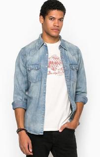Джинсовая приталенная рубашка D&S Ralph Lauren