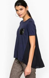 Джемпер из хлопка, модала и полиэстера с карманом Pennyblack