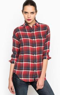 Красная хлопковая рубашка с карманом D&S Ralph Lauren