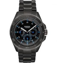 Часы круглой формы водонепроницаемые со стальным браслетом Fossil