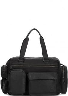 Черная сумка из искусственной кожи с карманами Replay