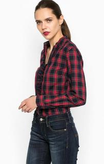 Красная рубашка в клетку Pepe Jeans