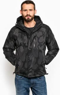 Серая камуфляжная куртка с капюшоном Replay