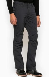 Темно-синие утепленные брюки из хлопка и полиамида Luhta