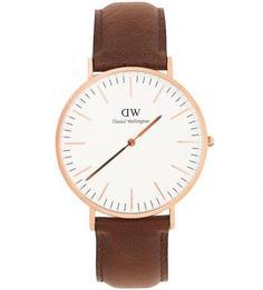 Часы с кожаным браслетом Daniel Wellington