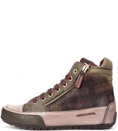 Кожаные кеды на шнуровке и молниях Candice Cooper