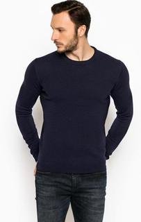 Темно-синий шерстяной джемпер Lagerfeld