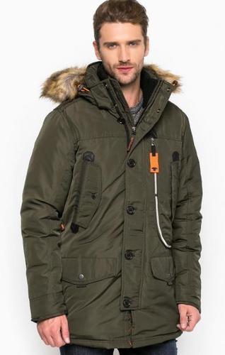 Однотонная куртка со съемным капюшоном