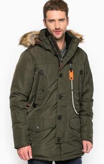Однотонная куртка со съемным капюшоном Tom Tailor