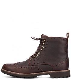 Кожаные ботинки на шнуровке Clarks