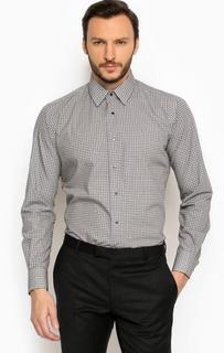 Хлопковая рубашка с длинными рукавами Lagerfeld
