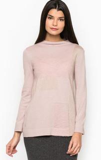 Розовый джемпер с воротником-стойкой Pennyblack