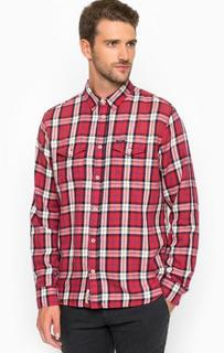 Рубашка из хлопка в клетку Pepe Jeans