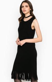 Платье без рукавов с бахромой Miss Sixty