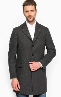 Серое шерстяное пальто с запонкой для лацкана Lion OF Porches