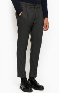 Серые зауженные брюки из трикотажа Drykorn