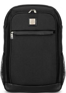 Черный текстильный рюкзак с карманами Mano