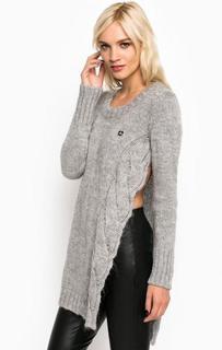 Однотонный свитер из акрила и полиамида MET