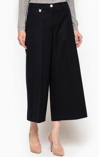 Темно-синие брюки-кюлоты из шерсти Armani Jeans