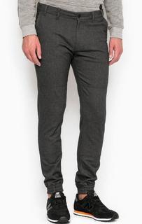 Зауженные брюки из хлопка с манжетами Drykorn