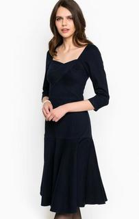 Темно-синее платье из денима Miss Sixty