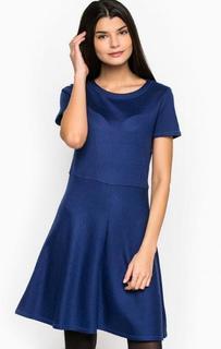 Синее платье с расклешенной юбкой Pennyblack
