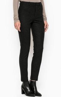 Зауженные брюки из полиамида, вискозы и шерсти Drykorn