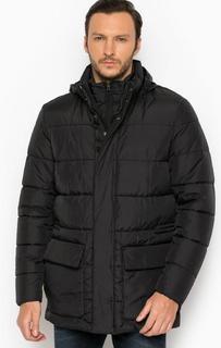 Черная куртка со скрытым капюшоном Geox