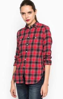 Хлопковая рубашка с длинными рукавами D&S Ralph Lauren