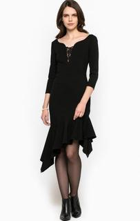 Черное платье с кружевными вставками Miss Sixty