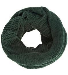 Зеленый шарф-хомут из вискозы и шерсти Eleganzza