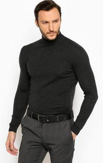 Темно-серый шерстяной джемпер Lagerfeld